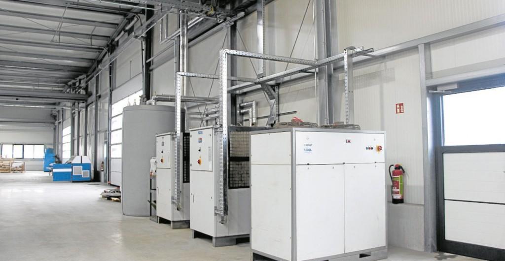 Die hochmoderne Wärme-Rückkopplungsanlage bei WST